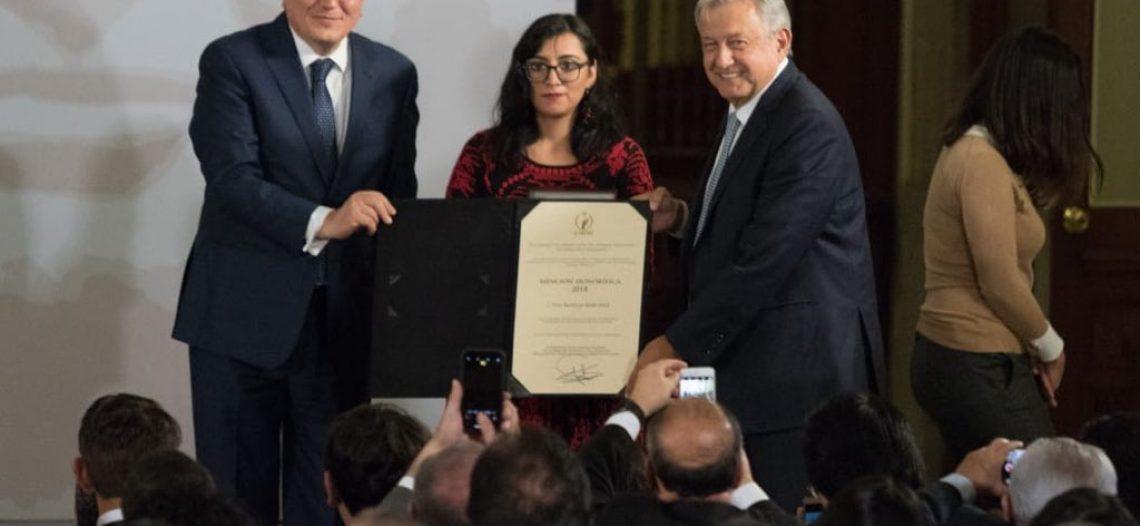 López Obrador entrega el Premio Nacional de Derechos Humanos