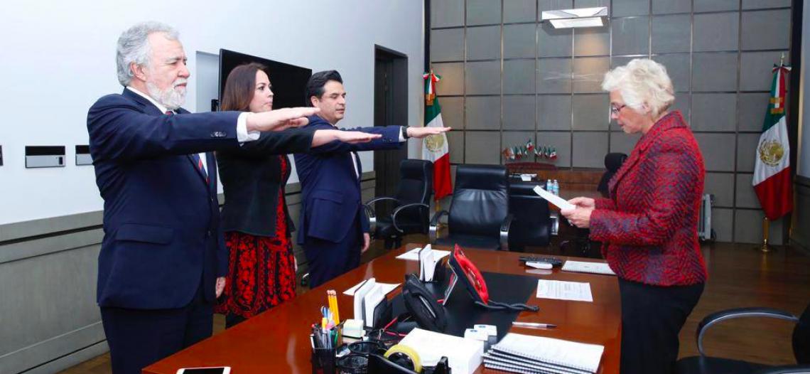 Rinden protesta subsecretarios de Gobernación