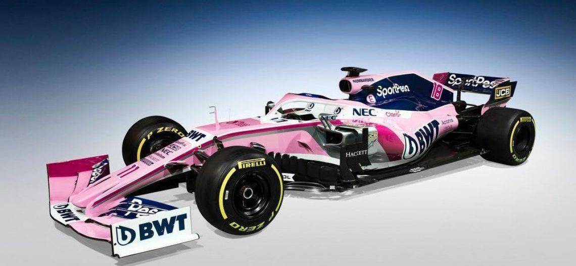 Presentan el SportPesa Racing Point nuevo auto de Checo Pérez