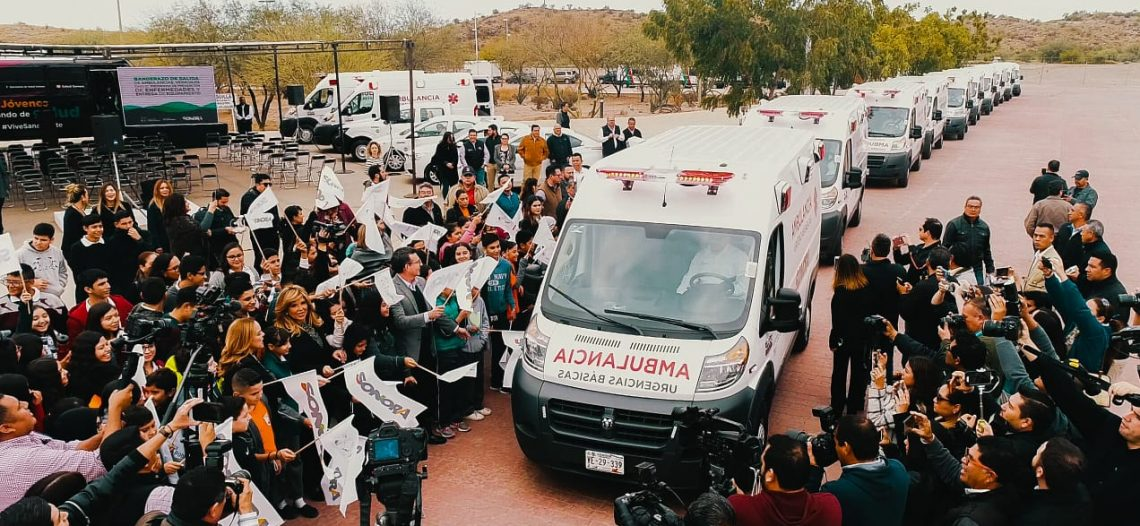 Llega Sonora al 80% de cobertura en ambulancias: Claudia Pavlovich