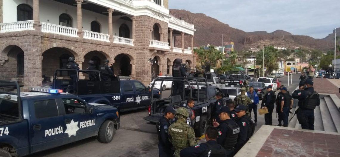 "Primer ""golpe"" de Federales en Guaymas"