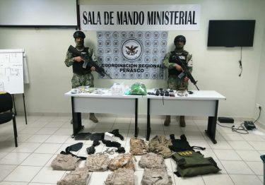 Marina interviene en la detención de presuntos narcotraficantes en SLRC