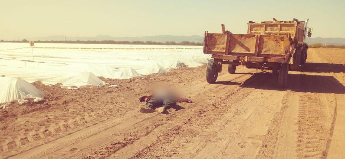 Muere jornalero aplastado por un remolque