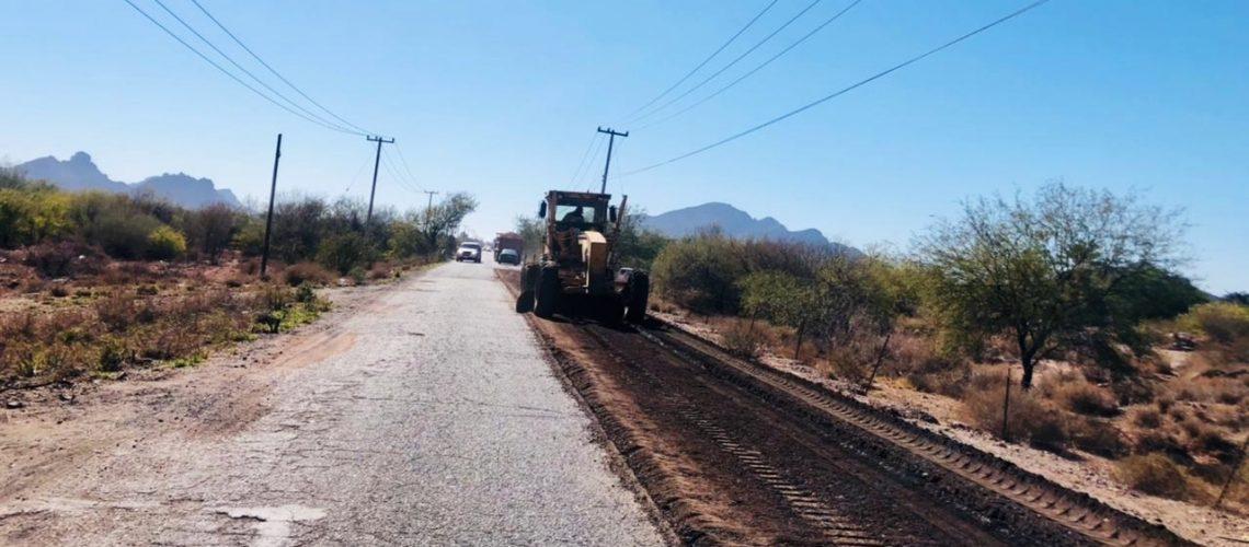 Presenta 70% de avance obra de conservación del libramiento de Guaymas
