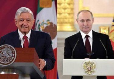 Presidentes López Obrador y Vladimir Putin conversan vía telefónica