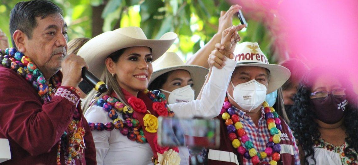 PREP en Guerrero da ventaja a Evelyn Salgado de Morena