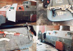 Sedena decomisa «Monstruo Blindado», autos y armas de oro en Tuxpan, Jalisco