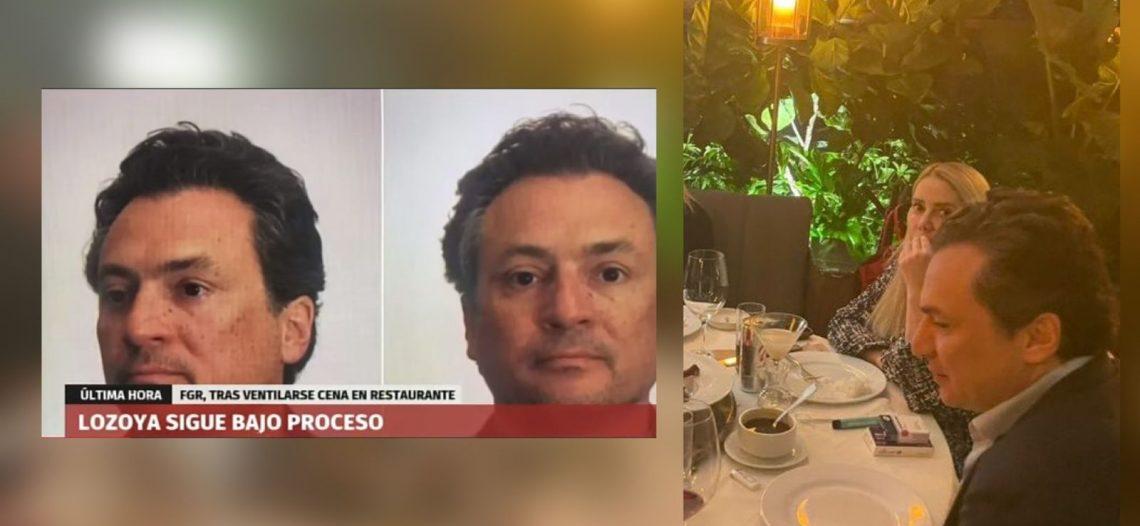 Emilio Lozoya sigue en proceso, dice la FGR; se vuelve escándalo al encontrársele departiendo en exclusivo restaurantes de la CDMX