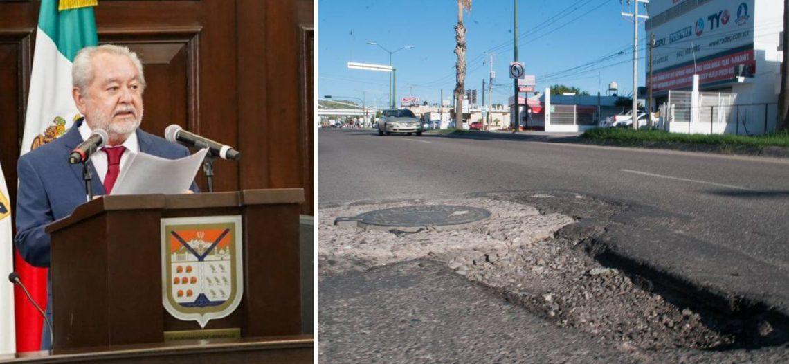 El ex alcalde Fermín González ya había confirmado necesidades por 6 mmdp para bacheo y recarpeteo en Hermosillo; «no hay dinero que alcance», afirmó.