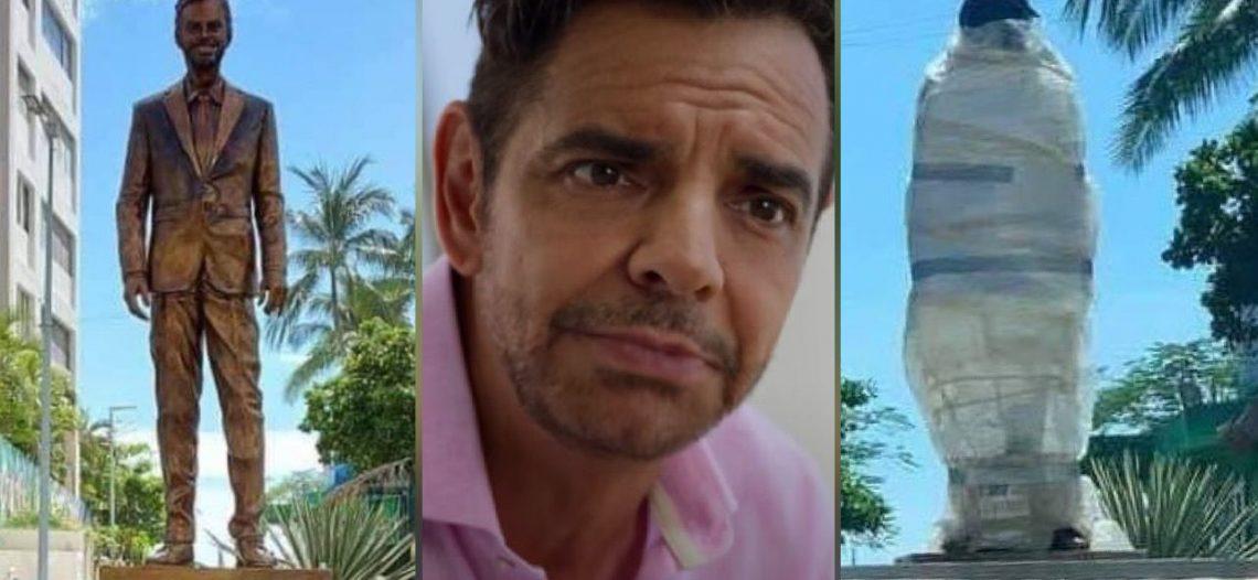 A solo un día de inaugurada, vandalizan estatua de Eugenio Derbez en Acapulco